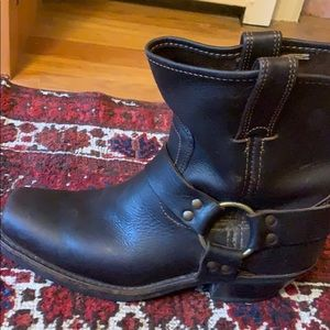 Frye harness pull on ankle boots